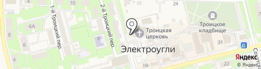 Троицкий храм на карте Электроуглей