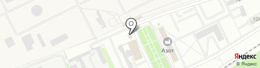 Магазин продуктов на ул. Связи на карте Новомосковска
