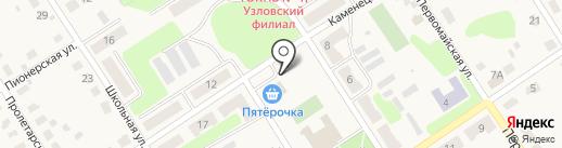 Пятёрочка на карте Каменецкого