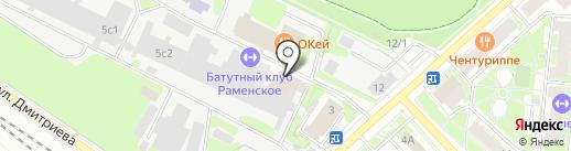 Фабричный двор на карте Раменского