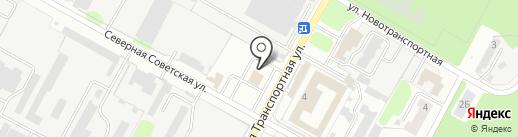 Омега-сервис на карте Новомосковска