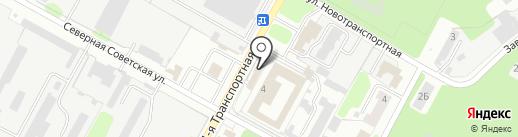 Магазин продуктов на Северной Советской на карте Новомосковска