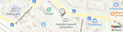 Комитет по управлению муниципальным имуществом на карте Раменского