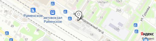 Раменская служба спасения и антикризисного реагирования, МУ на карте Раменского