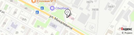 Межтопэнергобанк, ПАО на карте Раменского