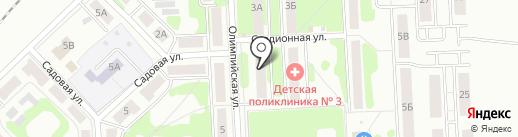 Славянский на карте Новомосковска