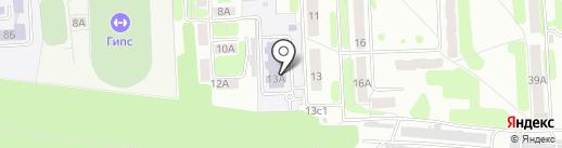 Средняя общеобразовательная школа №14 на карте Новомосковска