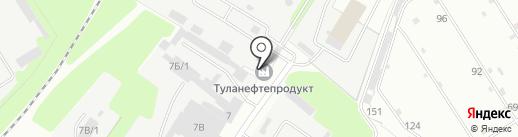 Туланефтепродукт, ПАО на карте Новомосковска
