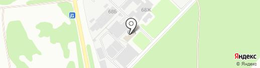 Кит на карте Новомосковска