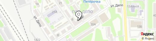 Прибой на карте Новомосковска