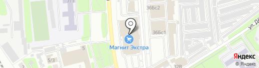 Магнит на карте Новомосковска