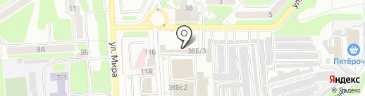 Магазин электрики на карте Новомосковска