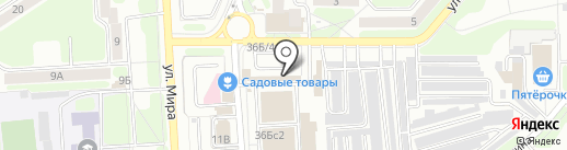 Дачник на карте Новомосковска
