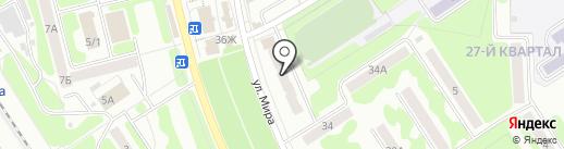 Среднерусский банк Сбербанка России на карте Новомосковска