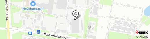 Техно на карте Новомосковска