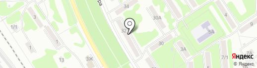 Стрелец на карте Новомосковска