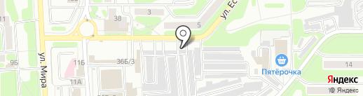 Шиномонтажная мастерская на ул. Есенина на карте Новомосковска