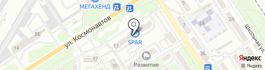 Середня загальноосвітня школа №13 на карте Новомосковска