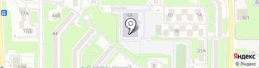 Средняя общеобразовательная школа №6 на карте Новомосковска