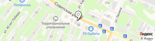 АКБ Крыловский на карте Обухово