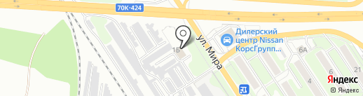 Автокрепеж на карте Новомосковска