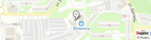 Сауна на карте Новомосковска