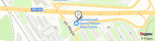 Миксавто на карте Новомосковска