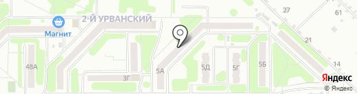 Пункт полиции Северного микрорайона на карте Новомосковска