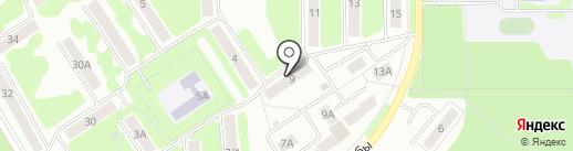 ВиД на карте Новомосковска