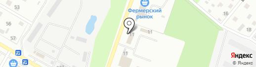Магазин автотоваров на карте Раменского