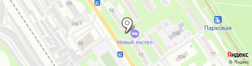 Киоск по продаже хлебобулочных изделий на карте Новомосковска
