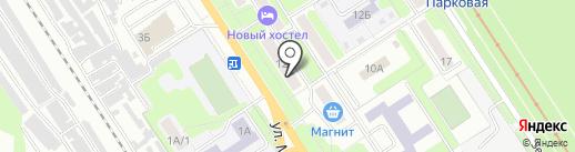 Возле дома на карте Новомосковска
