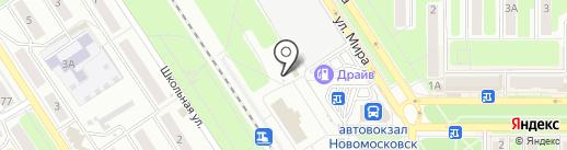 Штучка на карте Новомосковска
