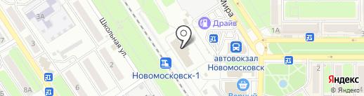 Автовокзал на карте Новомосковска