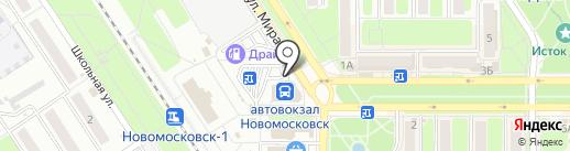 Эконом на карте Новомосковска