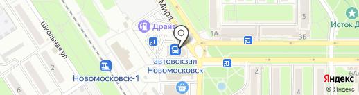 McDonald`s на карте Новомосковска