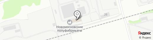 Автошина 71 на карте Новомосковска