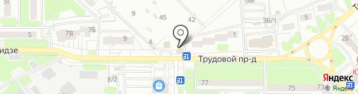 Шпилька на карте Новомосковска