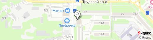 Сеть минимаркетов на карте Новомосковска