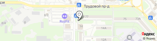 Н-печать на карте Новомосковска