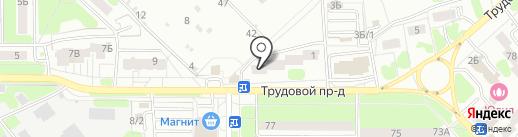 Белорусская лавка на карте Новомосковска