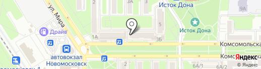 Микс на карте Новомосковска
