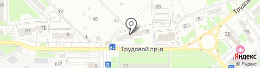 Пашино на карте Новомосковска