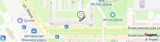 Sun на карте Новомосковска
