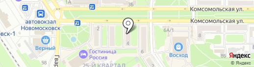 Носики-курносики на карте Новомосковска