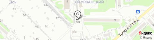 Таопин на карте Новомосковска