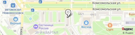 Школьник на карте Новомосковска