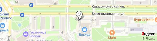 5D кинотеатр на карте Новомосковска