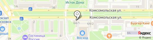 Магазин мужской и женской одежды на карте Новомосковска