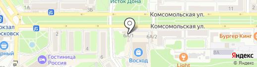 Магазин фейерверков на карте Новомосковска